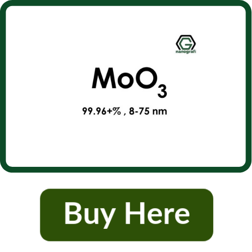 Molybdenum Oxide (MoO3) Nanopowder/Nanoparticles, High Purity: 99.96+%, Size: 8-75 nm