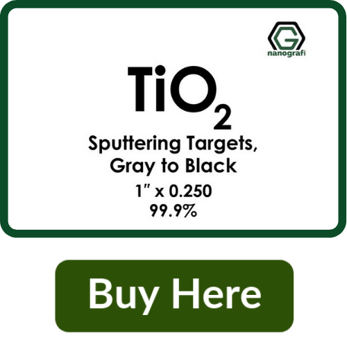 Titanium Dioxide (TiO2) Sputtering Targets, Purity: 99.9%, Size: 1'', Thickness: 0.250'', Grey to Black