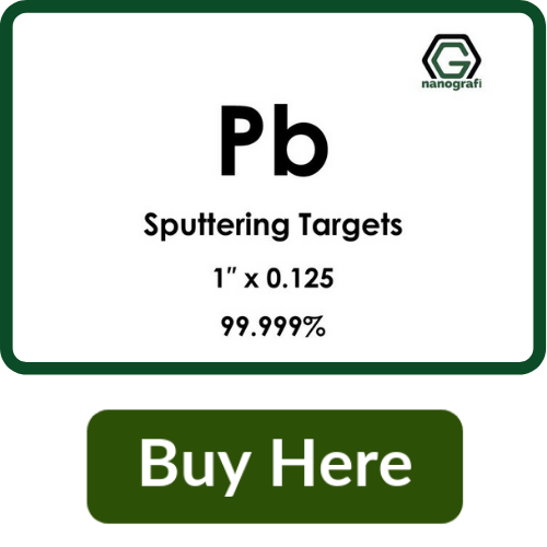 Lead (Pb) Sputtering Targets, Purity: 99.999%, Size: 1'', Thickness: 0.125''