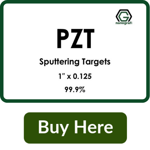 Lead Zirconium Titanate/PZT (O5PbTiZr) Sputtering Targets, Purity: 99.9%, Size: 1'', Thickness: 0.125''
